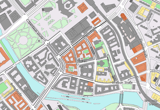 Ausschnitt Planwerk Innere Stadt